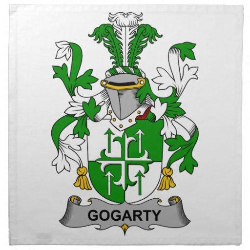 Escudo de la familia de Gogarty Servilleta Imprimida