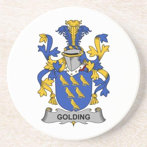 Escudo de la familia de Golding Posavasos Personalizados