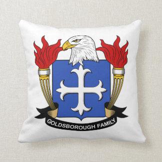 Escudo de la familia de Goldsborough Almohada