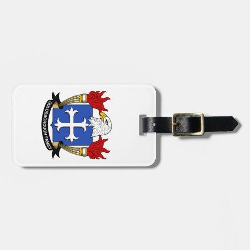 Escudo de la familia de Goldsborough Etiqueta De Maleta
