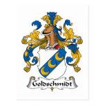Escudo de la familia de Goldschmidt Tarjetas Postales