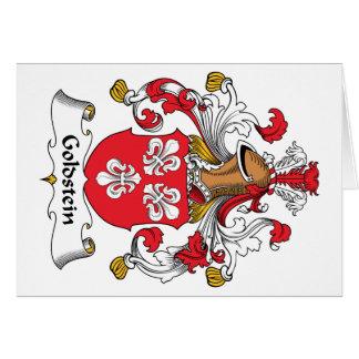 Escudo de la familia de Goldstein Tarjeta De Felicitación
