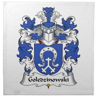 Escudo de la familia de Goledzinowski Servilletas