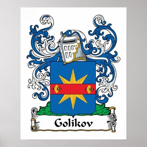 Escudo de la familia de Golikov Impresiones
