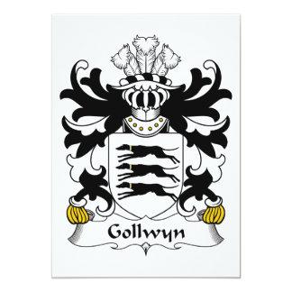 """Escudo de la familia de Gollwyn Invitación 5"""" X 7"""""""