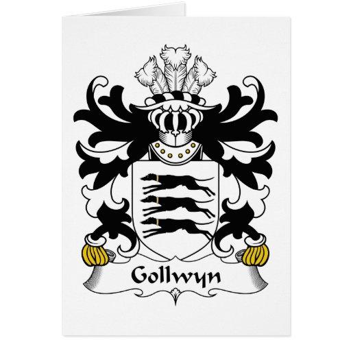 Escudo de la familia de Gollwyn Tarjeta De Felicitación