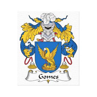 Escudo de la familia de Gomes Impresiones En Lona Estiradas