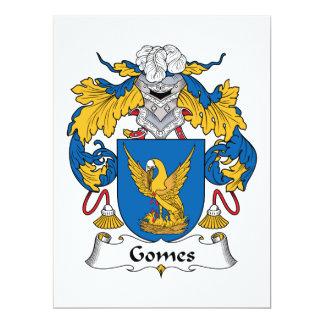 """Escudo de la familia de Gomes Invitación 6.5"""" X 8.75"""""""