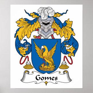 Escudo de la familia de Gomes Póster