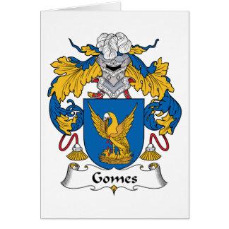 Escudo de la familia de Gomes Tarjeta De Felicitación