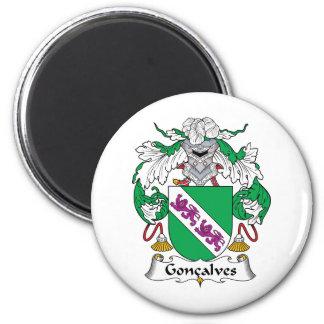 Escudo de la familia de Goncalves Imán Redondo 5 Cm
