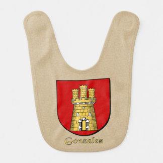 Escudo de la familia de Gonzalez Baberos Para Bebé