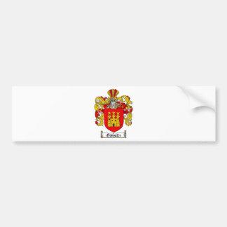 ESCUDO DE LA FAMILIA DE GONZALEZ - ESCUDO DE ARMAS ETIQUETA DE PARACHOQUE