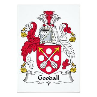 """Escudo de la familia de Goodall Invitación 5"""" X 7"""""""