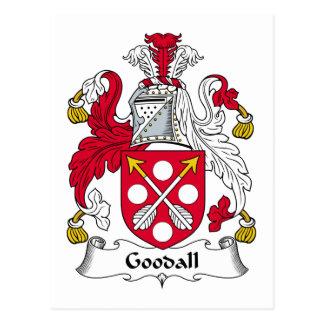 Escudo de la familia de Goodall Postal