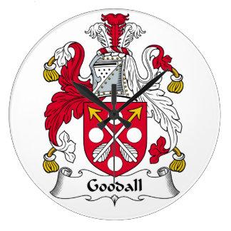 Escudo de la familia de Goodall Reloj Redondo Grande