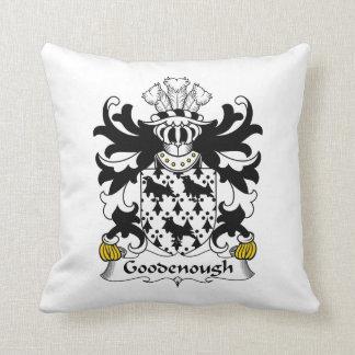 Escudo de la familia de Goodenough Almohadas