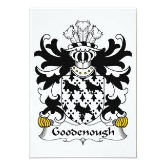 """Escudo de la familia de Goodenough Invitación 5"""" X 7"""""""