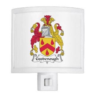 Escudo de la familia de Goodenough Lámparas De Noche