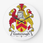 Escudo de la familia de Goodenough Relojes De Pared