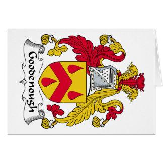 Escudo de la familia de Goodenough Tarjeta De Felicitación