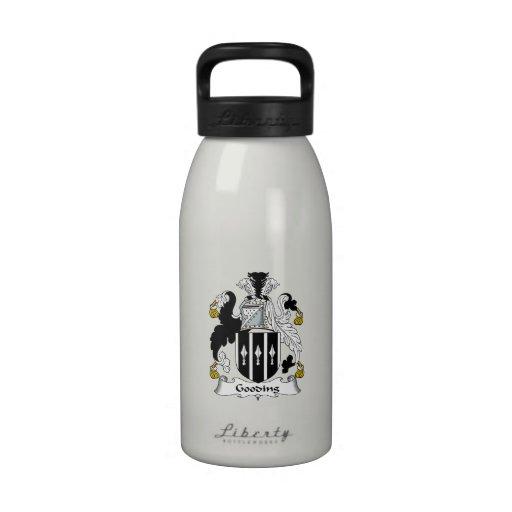 Escudo de la familia de Gooding Botellas De Agua Reutilizables