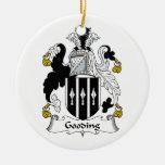 Escudo de la familia de Gooding Ornamento De Navidad