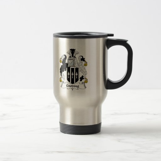 Escudo de la familia de Gooding Tazas De Café