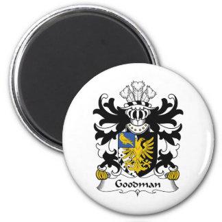 Escudo de la familia de Goodman Imán Redondo 5 Cm