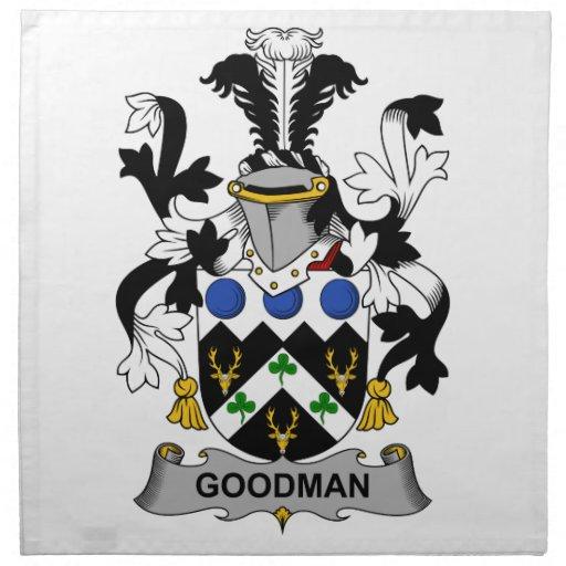 Escudo de la familia de Goodman Servilleta