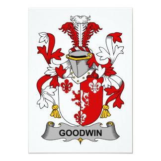 Escudo de la familia de Goodwin Invitación 12,7 X 17,8 Cm