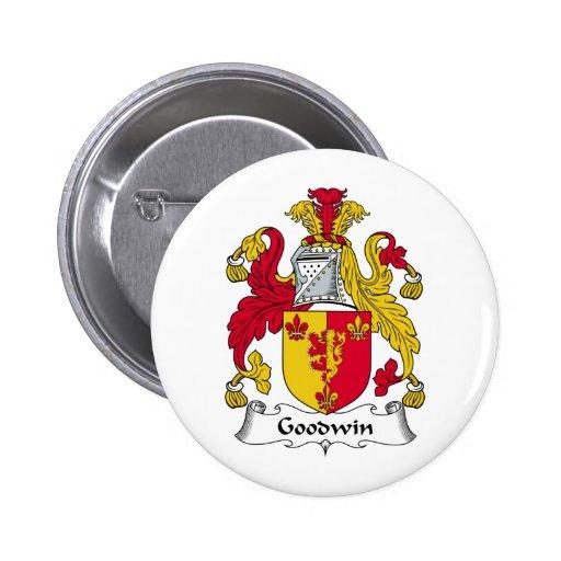 Escudo de la familia de Goodwin Pin Redondo De 2 Pulgadas