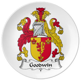 Escudo de la familia de Goodwin Platos De Cerámica