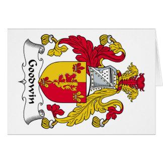 Escudo de la familia de Goodwin Tarjeta