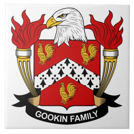 Escudo de la familia de Gookin Azulejo Cuadrado Grande