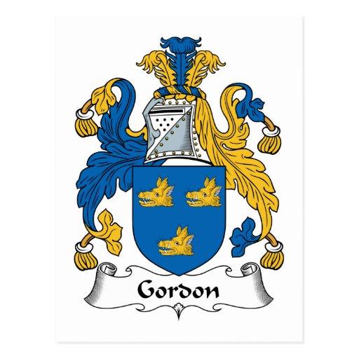Escudo de la familia de Gordon Postales