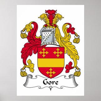 Escudo de la familia de Gore Impresiones
