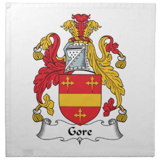 Escudo de la familia de Gore Servilleta