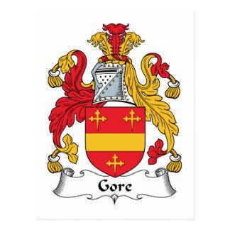 Escudo de la familia de Gore Tarjeta Postal
