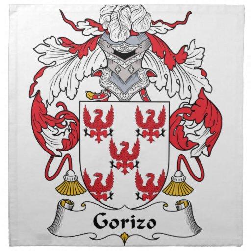 Escudo de la familia de Gorizo Servilletas Imprimidas