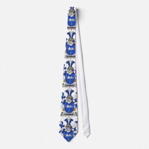 Escudo de la familia de Gorman Corbata Personalizada