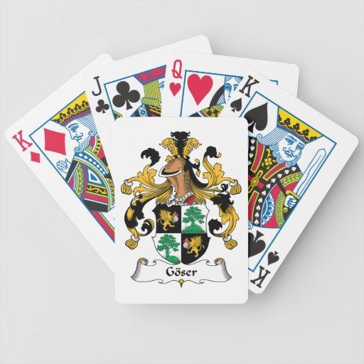 Escudo de la familia de Goser Baraja Cartas De Poker