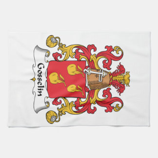 Escudo de la familia de Gosselin Toallas De Mano
