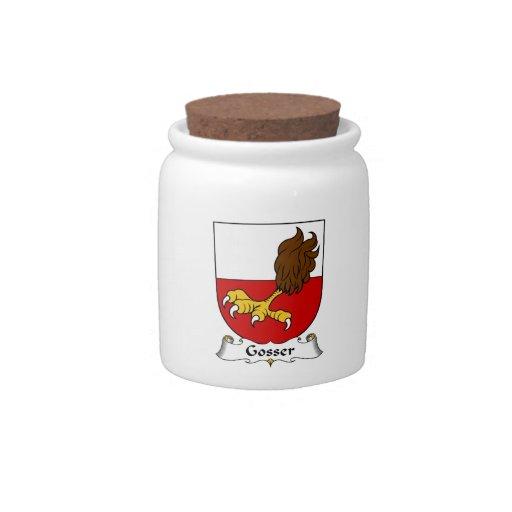 Escudo de la familia de Gosser Platos Para Caramelos