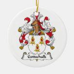 Escudo de la familia de Gottschalk Ornaments Para Arbol De Navidad