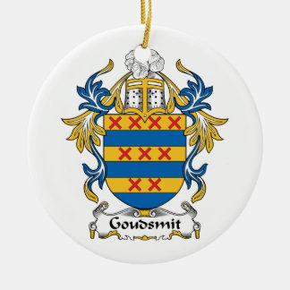 Escudo de la familia de Goudsmit Adorno Redondo De Cerámica