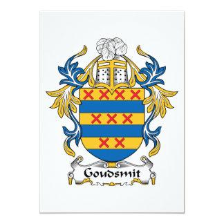 Escudo de la familia de Goudsmit Invitación 12,7 X 17,8 Cm
