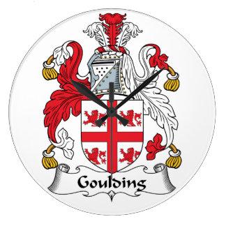 Escudo de la familia de Goulding Reloj Redondo Grande