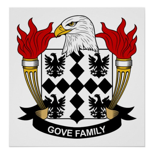Escudo de la familia de Gove Poster