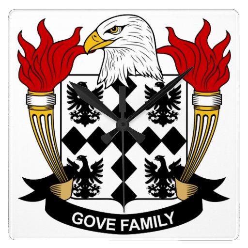 Escudo de la familia de Gove Relojes